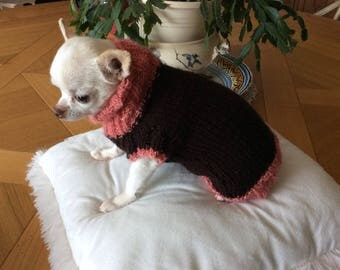 Salmon and Brown wool sweater cat or dog approximately 1 kg a1kg800