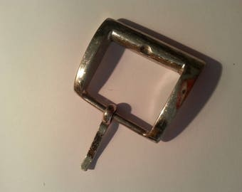 Beautiful vintage silver metal belt buckle.