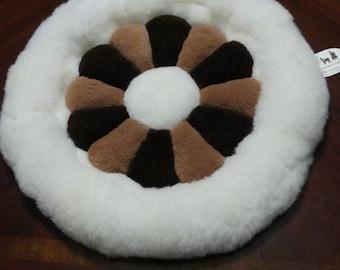 Alpaca fur decorative pillow cover-