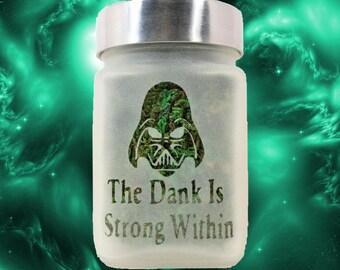 Star Wars Darth Vader Stash Jar - Weed Edibles Canister - Weed Accessories, Stash Jars & Stoner Gifts - Cannabis Edibles Jar - Weed Gifts