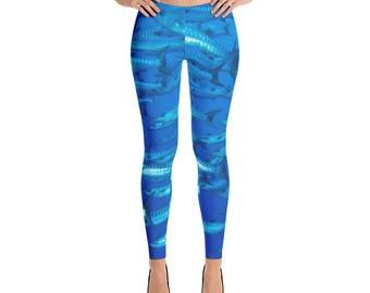 Blue Cudas Leggings