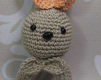 Baby rattle, Greifring, Sweet Bunny, Amigurumi, manual work