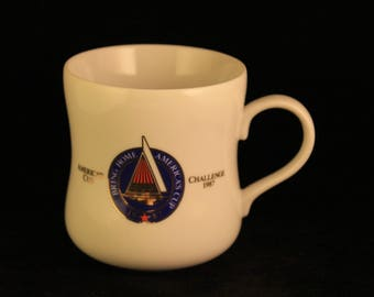 Vintage Sail America 1987 Taster's Choice America's Cup Challenge Coffee Cup Mug
