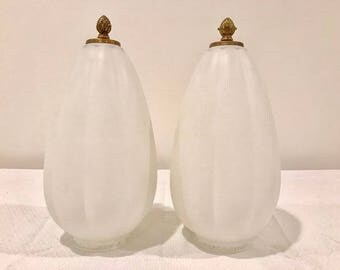 Vintage Frosted Glass Pendants