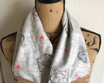 Kitty Scarf, Cat Scarf, Cat Lovers Gift, Cat Lover Accessory, Cat Gift, Warm Scarf, Kitty Lover Gift, For Her, Mothers Day Gift