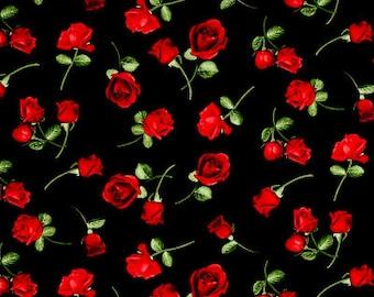 Glamour Roses Tossed / custom fabric