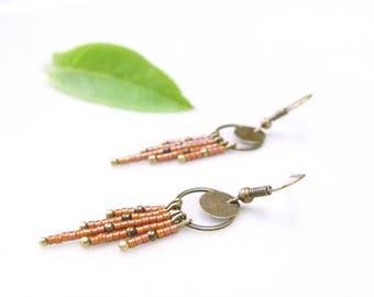 Boho Chic earrings ~ Topaz rain ~