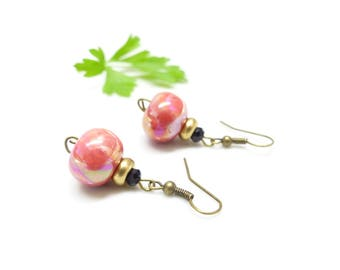 Retro earrings ~ cherry ~