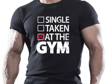 At The Gym Bodybuilding Motivation Black Men's Workout t-shirt MMA WWE