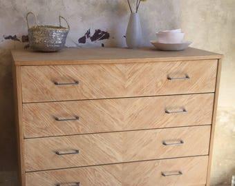 Antique dresser in light oak