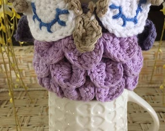 Purple Owl Coffee Cozy