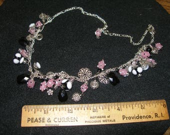 Plastic and Glass Bead Necklace(751)
