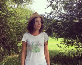 Wild & Free Cactus Tee * Hiking Shirt * Gifts for Hikers* Graphic Tee * Gifts for her * Adventure *Outdoor apparel* Wild Women
