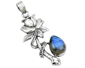 Enchanted Rose labradorite necklace