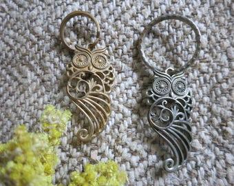 Brass Keychain, owl Keychain, animal keychain, stylish keychain, gift keychain, owl bag charm, owl bag keychain, metal bag keychain