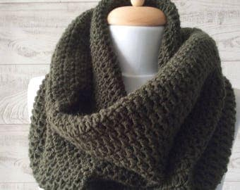 Knit scarf, men scarf, chunky scarf, knit cowl, scarf, wool knit scarf  / Many Colors / FAST DELIVERY