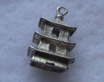 Silver Pagoda Bracelet Charm