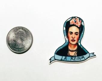 "Handmade Frida Kahlo  ""La Reina"" lapel pin"