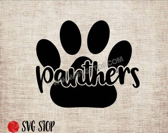 Panther Paw Cut Out - SVG, DXF, PNG, Jpg, Eps - Clip Art Cut File - Silhouette, Cricut, Sublimation Printing - Instant Digital Download