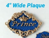 Customized Name Plaque for Royal King/Prince or Princess Cake Decoration