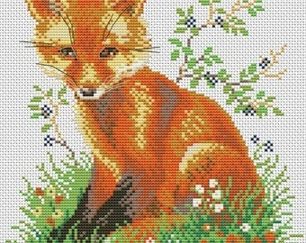 Fox, Forest | Cross Stitch Pattern | Needlepoint Chart | Instant download