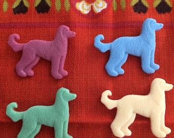 Retro vintage dog pin brooch pinback button handmade