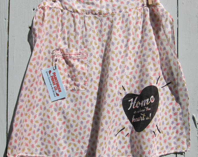 SALE! Sheer Floral Vintage Apron Set