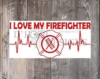 Download Firefighter love svg | Etsy