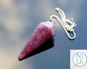 Lepidolite Gemstone Point Pendulum Dowsing Crystal Dowser Scrying Reiki Chakra Healing Free Uk Shipping