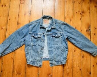 Worn in Vtg Levis Jean Jacket
