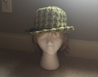 Vintage Sage Green Hat designed by Hats by Yolie