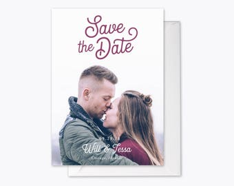 Classic Love Photo Save the Date printable
