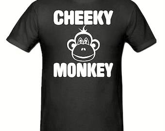 Cheeky monkey t shirt, children's t shirt sizes 5-15 years