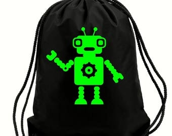 Harvey robot bag,gym bag,school bag,water resistant drawstring bag,swimming wet bag