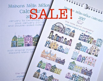 2018 Wall Calendar UK Holidays Layout Only Left, Maisons Mélis-Mélos SALE!