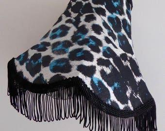 Handmade sparkly silk lampshade