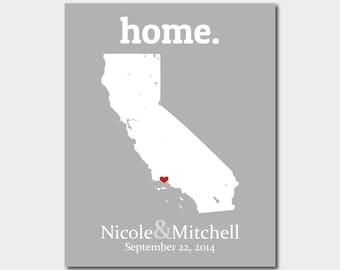 California map print  Etsy
