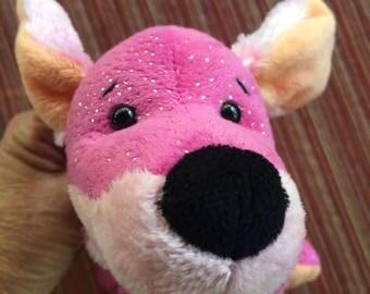 Pink Stuffed Dog,Pink Dog,Pink Puppy,Pink Dachsund,Valentine Dog,Plush Dachsund,Ganz Toy,Ganz Plush,Stuffed Dachsund,Pink Plush Dog,Ganz Dog