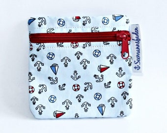 anchors tampon case, tampon holder, change, mini purse, little purse, organizer, stocking stuffer