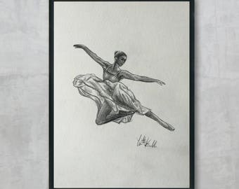 Original Dancer Drawing (Not a print) Wall Decor