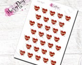Date Night - Tattoo Theme - Planner Stickers for Horizontal, Vertical ECLP, BuJo, TN, Kikki.K Filofax, Happy Planner etc