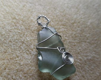 Martha's Vineyard Seaglass Wire Wrapped Pendant