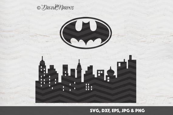 Batman Svg Gotham City Inspired Svg Superhero Cut Files Svg