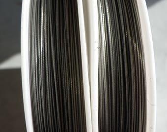 1 reel 100 m 0.30 Tiger tail wire 0.30 mm black