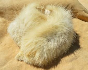 Vintage White Fox Fur Collar - Half a Collar