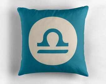 LIBRA Astrological Throw Pillow, Minimalist Zodiac Art, Home Decor