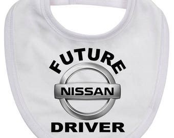 Baby Bib featuing FUTURE NISSAN DRIVER on quality new born baby bib