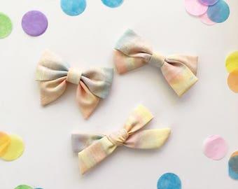 Limited Edition Birthday Bows, Baby bows, baby headbands, sailor bow , school girl bow, nylon headband, first birthday baby bow headband