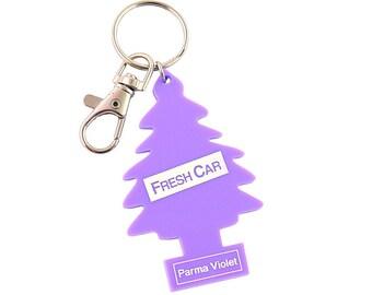 Kitsch Tree Air Freshener Keychain - Laser Cut Acrylic Keyring Bag Charm