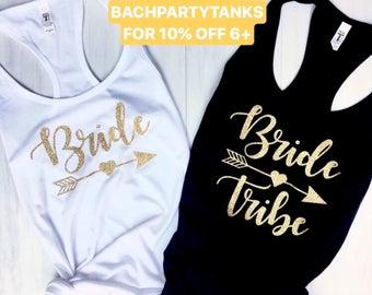 Bride Tribe Tank Tops | Bride Tank Top | Bachelorette Party Shirts | Bridal Party Tanks | Bride Tribe Shirt | Bachelorette Tanks